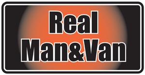 Real man and van